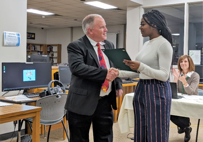 School board honors representatives from A.L. Brown High School