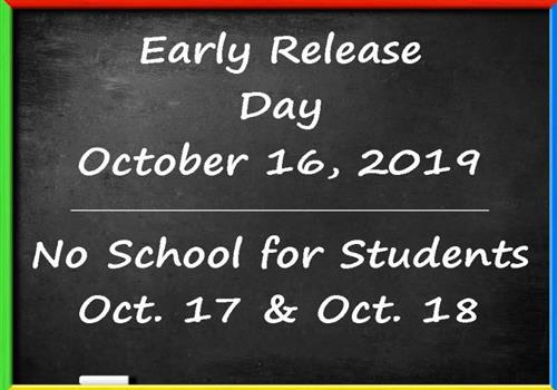 Upcoming Early Release & Teacher Work Days in KCS