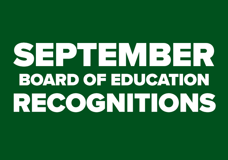 September Board of Education Recognitions