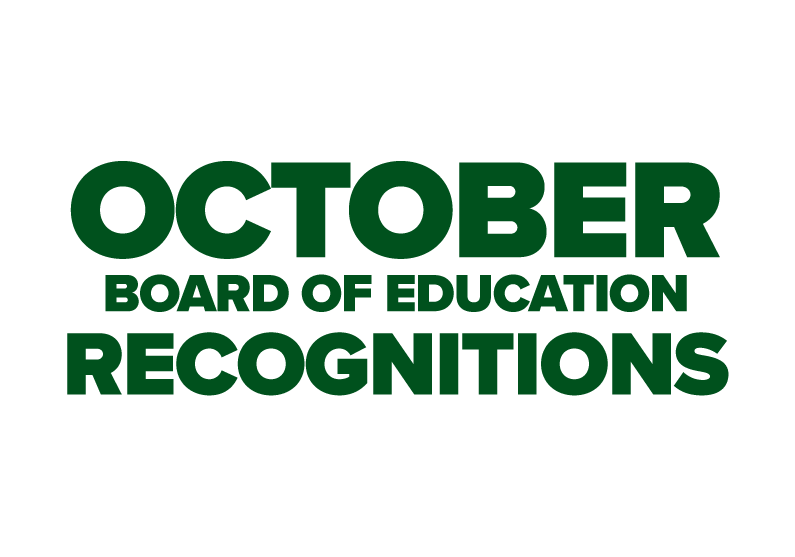 October BOE Recognitions